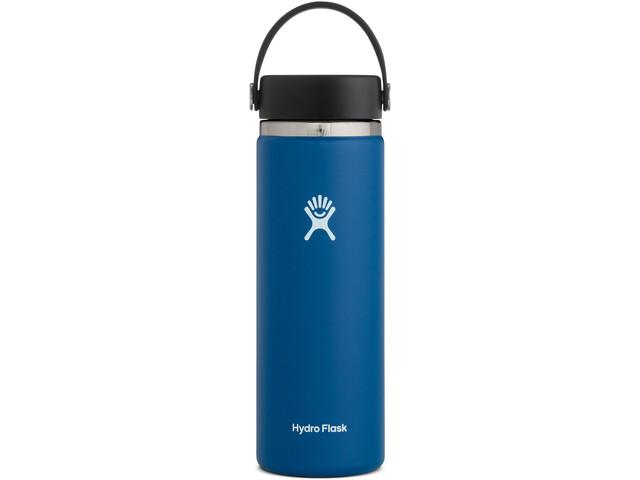 Hydro Flask Wide Mouth Drinkfles met Flex Cap 591ml, blauw